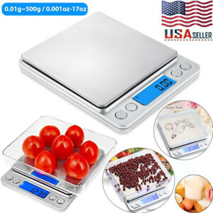 Digital Scale 0.01g 500g Jewelry Gold Silver Coin Gram Pocket Herb Grain Weight