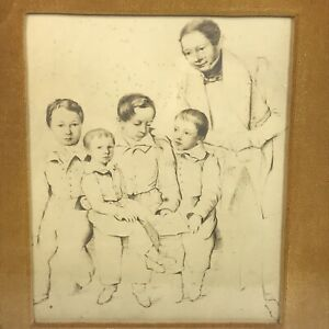 "Antique 19th Century Lithograph Photograph 6""x8"" Date 1835 Roader Family Siberia $49.00"