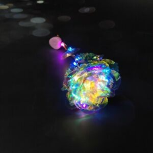 24K Gold Foil Rose Flower LED Galaxy Luminous Mother#x27;s Day Valentine#x27;s Day Gifts $6.83