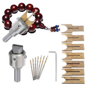 16Pcs/Pack Wood Bead Maker Beads Drill Bit Milling Cutter Set Woodworking Tool