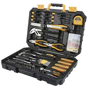 DEKO 196PCS Tool Set General Household Hand Tool Kit with Rip Claw Hammer $39.89