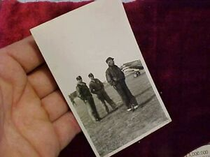 ORIGINAL WWII AVG FLYING TIGERS PHOTO SHARK MOUTH P40 AND CREW IN FLIGHT JACKETS $97.88