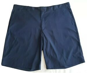 Nike Golf Tour Performance Mens 42 Dark Blue Flat Front Dri Fit Shorts $24.99
