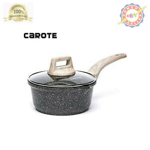 Carote 2-Quart Sauce Pan with Glass Lid,Soup Pot Nonstick Saucepan Granite from