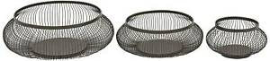 Black Iron Wire Decorative Baskets Set of 3