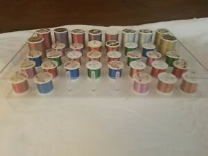 LOT of 37 Sewing Spools of Thread Some Coats Metallics w Case #1 $24.95