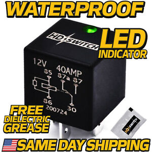 12V Relay replaces Hella 4RD 931 680 01 Sealed WaterProof w LED INDICATOR $15.99