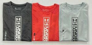 Boys Youth Under Armour Heat Gear Loose Polyester Long Sleeve Shirt $19.99