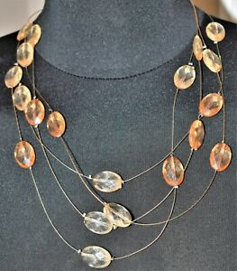 Beautiful Beaded Invisible Line Necklace