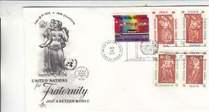 United Nations 1967 For Fraternity and a better World FDC Unaddressed VGC