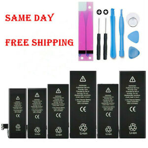 For iPhone 5 6 6S 7 8 X XS Plus Replacement Internal Battery w Adhesive Tool $10.99