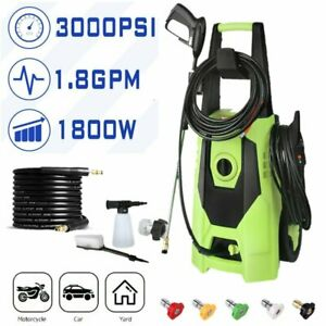3000PSI 1.8GPM Electric High Pressure Washer Power Water Clean Machine Jet Green $85.99