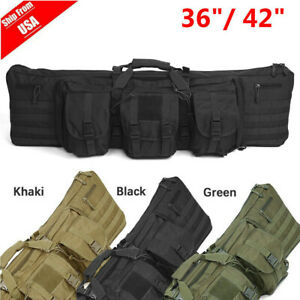 Heavy Duty Double Carbine Rifle Bag Soft Gun Case Hunting Storage Backpack 36 42
