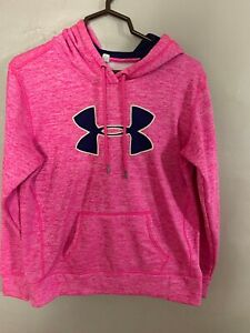 Pink with Blue Under Armour Hoodie Small