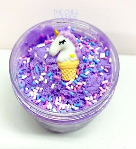 🦄 UNICORN CLOUD SLIME FLUFFY SNOW with Charm 4 6 amp; 8 oz Made in USA