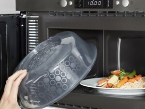 IKEA Microwave Cover Splatter Screen Steam Release Lid 10quot; Blue Gray NEW PRICKIG