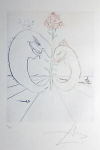 SALVADOR DALI etching BABAOUO HANDSIGNED on BFK RIVES PAPER $270.00