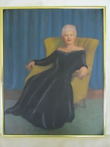 Vintage Painting of a Sophisticated Lady $19.50