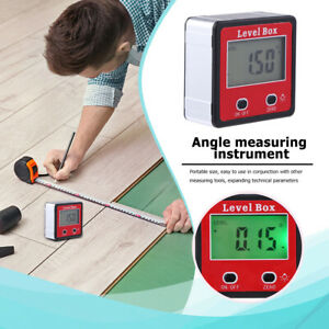 Digital Protractor Gauge Level Box Angle Finder Inclinometer Magnet Meter Y5Y0 $12.99
