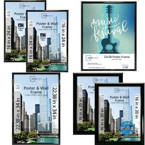 Mainstays 16x24 Trendsetter Poster and Picture Frame Black Assorted Sizes