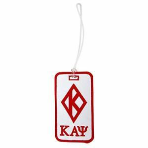 Kappa Alpha Psi Embroidered Luggage Tag Bag Nupe Diamond w Ltr Under Bag Tag $12.99
