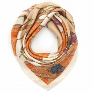 """35"""" Silk Like Scarf for Women Large Square Satin Neck Scarves Hair Head Wraps $6.99"""