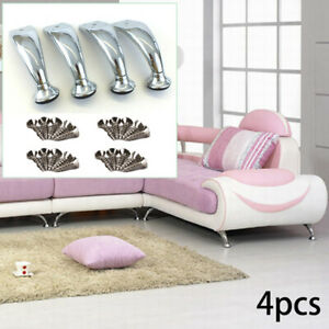 4 Pcs lot Sofa Legs Iron Cabinet Furniture Stand Couch Bed Bench Tea Table Feets