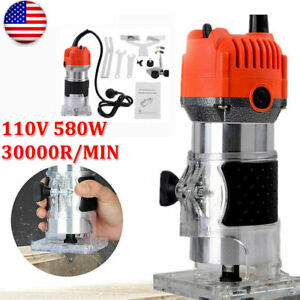 1 4#x27;#x27;inch Electric Hand Trimmer Wood Laminate Router Joiner Tool 30000RPM