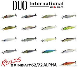 DUO Realis Spinbait 62 72 Alpha Spybait Lure Select Size Color s