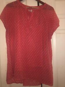 LIZ CLAIBORNE XL BLOUSE WITH CAMI UNDER XL SALMON COLOR $13.99