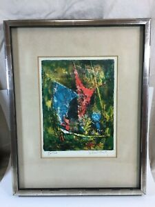 Hoi Lebadang singed number lithograph of boat $100.00