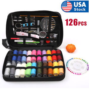 126Pcs Set Sewing Kit Scissors Needle Thread For Home Stitching Hand Sewing Tool $13.98