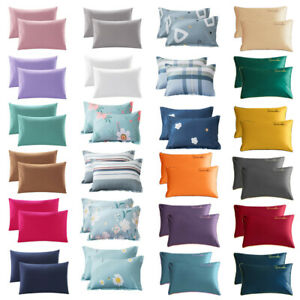 2Pc Queen Premium Cotton Bed Pillowcase Pillow Case Covers Ultra Soft Breathable $8.99