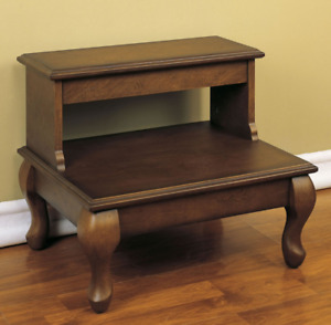 Powell Bed Steps with Drawer quot;Antique Cherryquot;