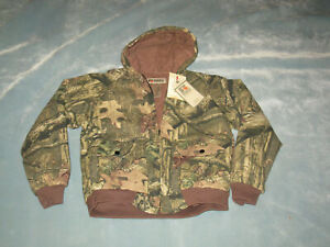 Mossy Oak YOUTH Hunting Jacket sz X Large Hooded Bomber Full Zip Casual NWT