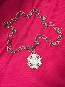 Norwegian Norway Belt Necklace Chain Lion Viking Pendant Vintage