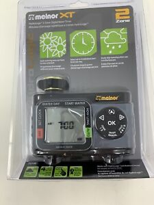 Melnor XT Hydrologic 2 Zone Digital Water Timer 73100 New