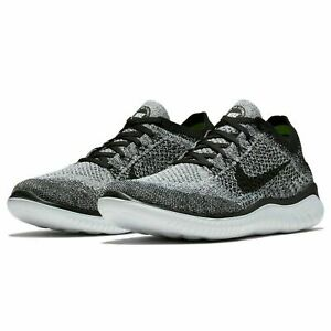 Nike Free RN Flyknit 2018 Running Shoes White Black quot;Oreoquot; 942838 101 Men#x27;s NEW