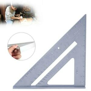 7inch Aluminum Measuring Triangle Angle Protractor Square Ruler Woodworking Tool C $11.30