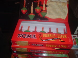 FOUR FULL SETS NOMA VINTAGE REPRO CHRISTMAS BUBBLE LIGHTS 7 bulb NEW IN BOX