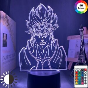 Acrylic Led Night Light JoJos Bizarre Adventure Dio 3D Lamp Bedroom Decor Gift $24.98