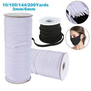 1 8 Inch 1 4 Inch Elastic Band Cord Sewing Trim for DIY Face Mask 10 200 Yards $12.29