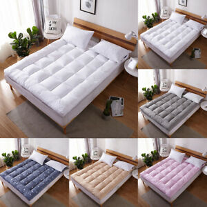 Pillow Top Mattress Pad Cover Bed Topper Protector Soft Hypoallergenic 4 Sizes $36.99