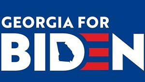 Georgia for Biden Bumper Sticker 3¾quot; x 6¾quot; two for the price of one