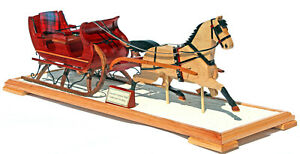 Christmas Sleigh amp; Currier amp; Ives Horse woodwork plan full size patterns $17.95