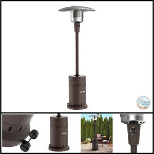 Mainstays Large Outdoor Patio Heater Powder Coat Brown With Wheels $389.97