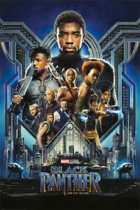 BLACK PANTHER MARVEL MOVIE POSTER PRINT REGULAR STYLE SIZE: 24quot; x 36quot;