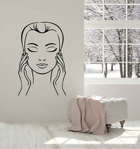 Vinyl Wall Decal Spa Therapy Massage Beauty Woman Face Stickers Mural g3733