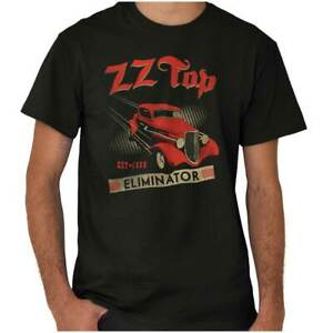 ZZ Top Vintage Eliminator 1980s Concert Tour Adult Short Sleeve Crewneck Tee