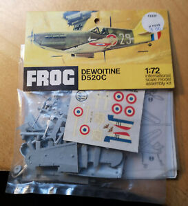 1970 Frog kit of a Dewoitine D520C fighter plane